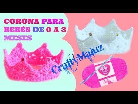 CORONA PARA BEBÉ A CROCHET (MUY FÁCIL!) - YouTube