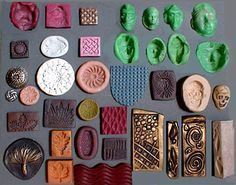Making molds from polymer clay: MoldsDianeBlack