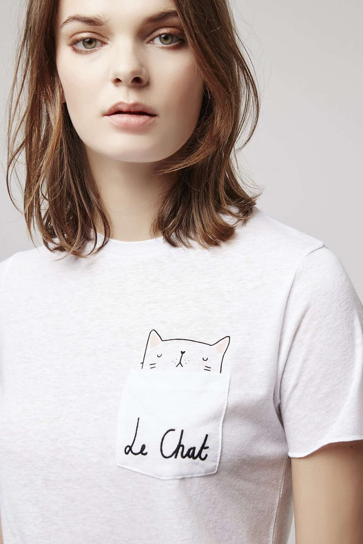 Le Chat Pocket Tee - New In This Week - New In - Topshop