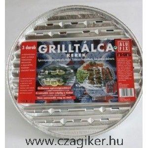 Alufix grilltálca kerek