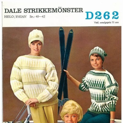 Free Pattern from Dale Norway, vintage sweater. Click the link for free pattern