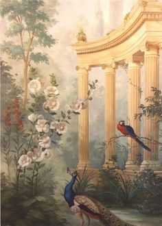 Ian Cairnie Landscape Mural Samples (jt-love to see a landscaped mural in a dolls house.. inspirational pic)