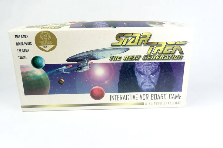 Vintage Star Trek The Next Generation VCR Board Game Klingon Challenge