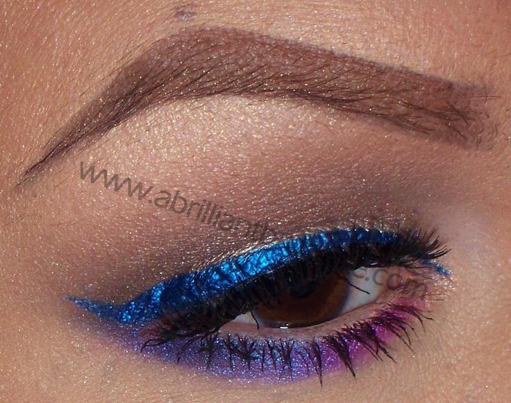 Drugstore Makeup Look: Colorful Eyeliner with wet n wild ~ A Brilliant Brunette