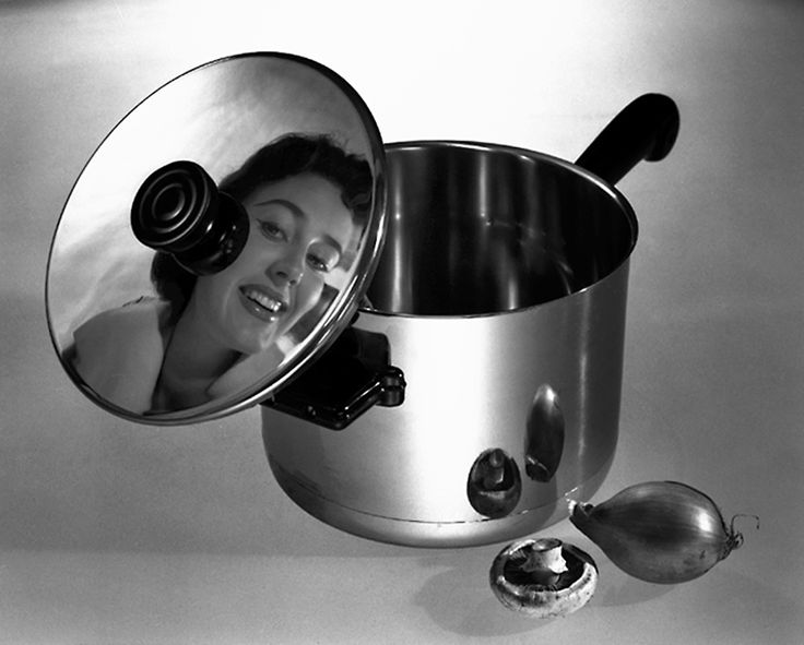 A Swedish stainless steel saucepan, 1957.