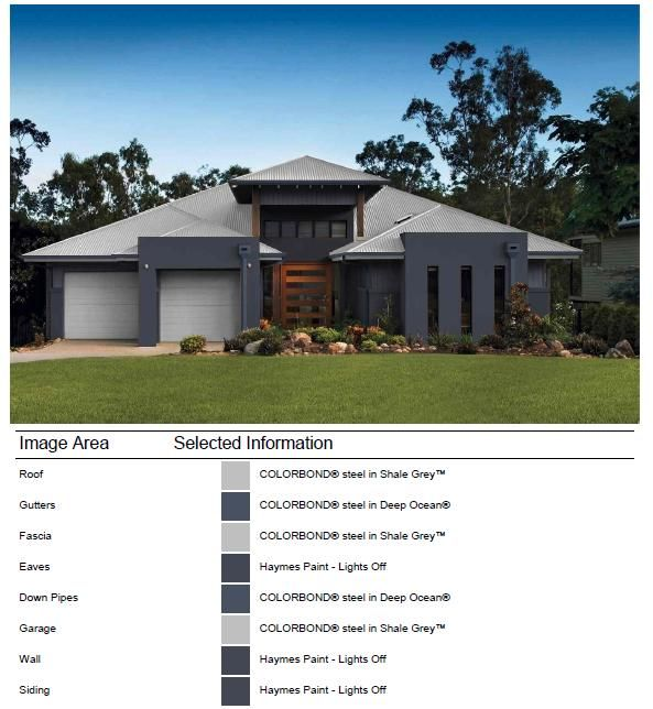 Exterior Facade Colour Selection Done With Colorbond Online Visualiser Modern Houses Colors And House