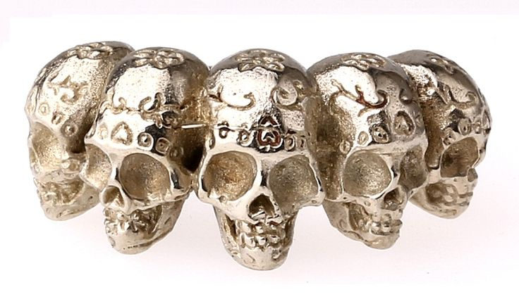 I HEARD THEY EAT CIGARETTES - 5 Skull Ring - Available Online !!