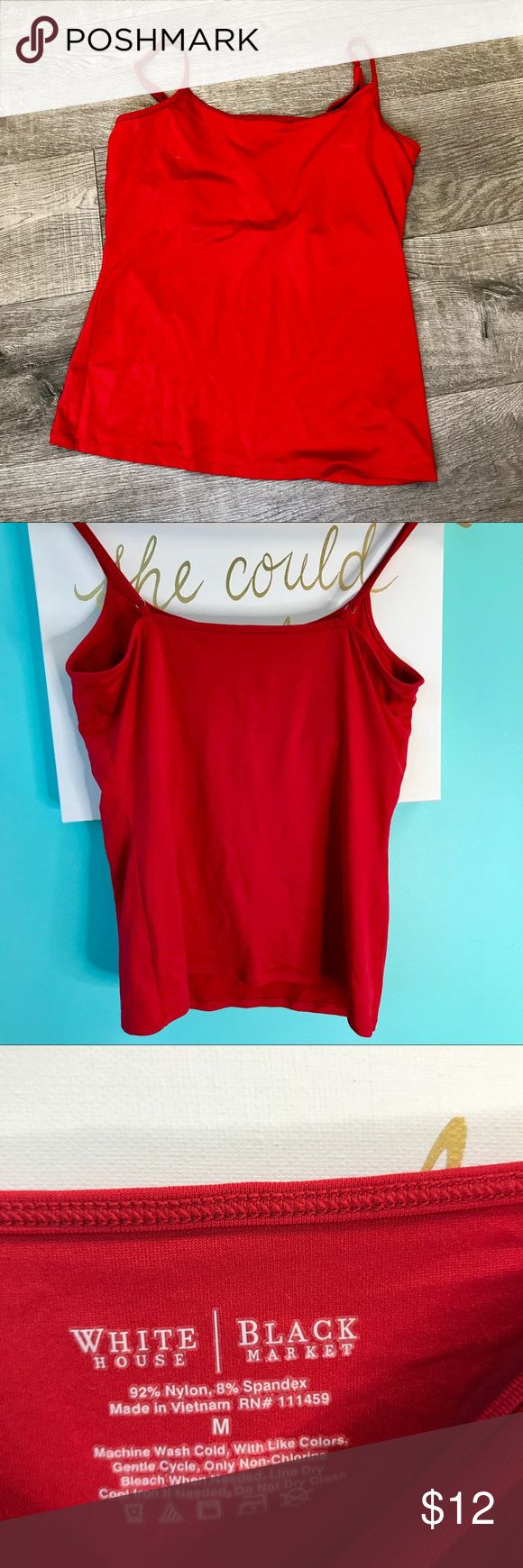 White House/Black Market Red Cami Size M red cami from WHBM in great condition! White House Black Market Tops Camisoles