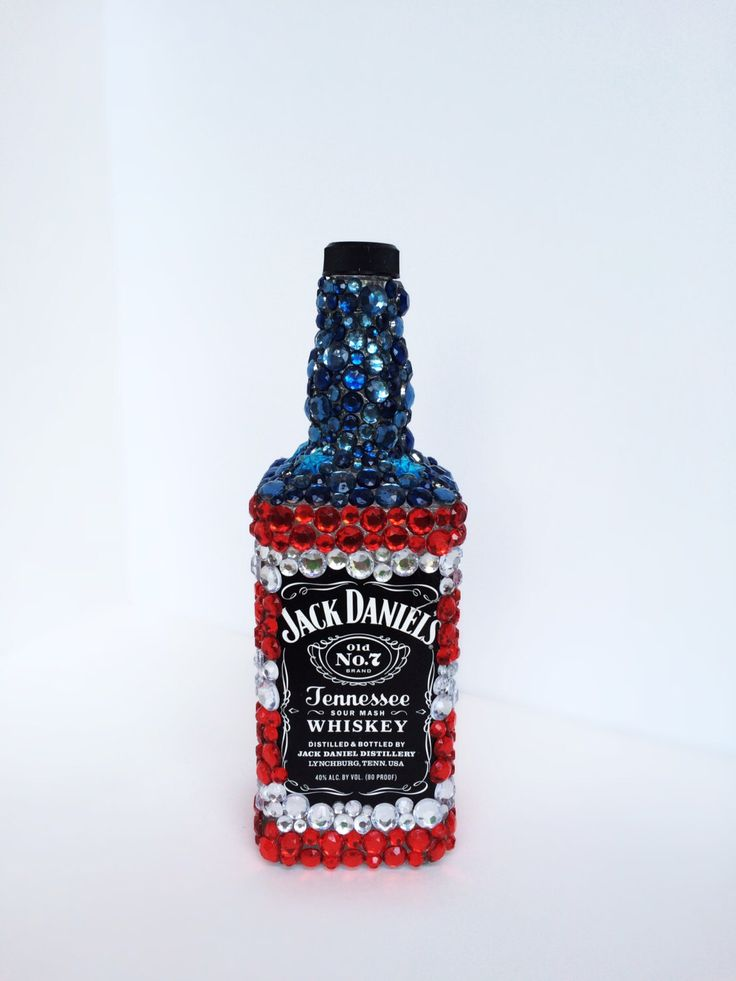 American Flag Jack Daniels bottle, Home Decor, Birthday gift, Decanter by CraftyyQueenBee on Etsy https://www.etsy.com/listing/209476639/american-flag-jack-daniels-bottle-home