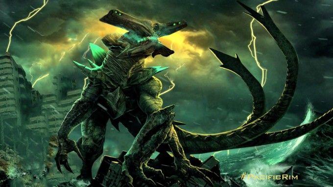 """BOCETOS DE TITANES DLE PACIFICO >>> Antes de iniciar cualquier producción audiovisual es necesario definir lo que se llama """"Dirección de Arte"""", o en palabras más coloquiales, cómo se verá la película. En el caso de Pacific Rim una de las partes más importantes de la dirección de arte es la creación de los Kaiju o monstruos que viene a destruir el planeta."""