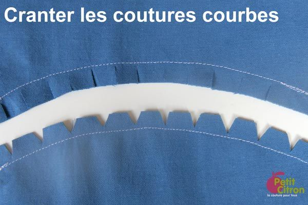 Cranter les coutures courbes - Petit Citron
