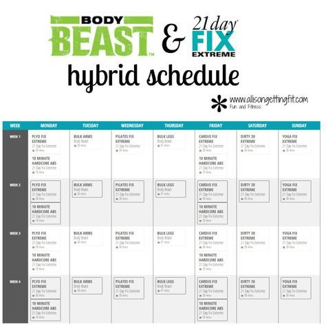 Best Beachbody Worksheets And Schedules Images On
