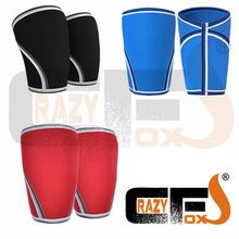 [A PAIR / 2 pieces] 7mm Custom compression 7mm neoprene knee sleeve / CROSSFIT WEIGHT LIFTING sleeve //Price: $US $11.98 & FREE Shipping //