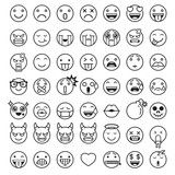 Vector: Emoji emoticons symbols icons set. Vector Illustrations