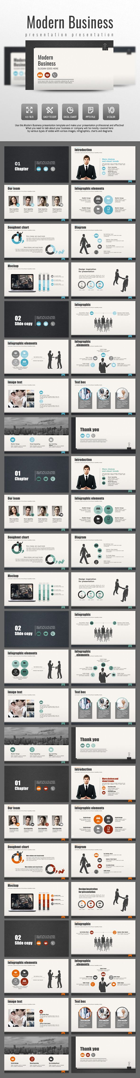 Modern Business PowerPoint Template #design #slides Download: http://graphicriver.net/item/modern-business/14032353?ref=ksioks