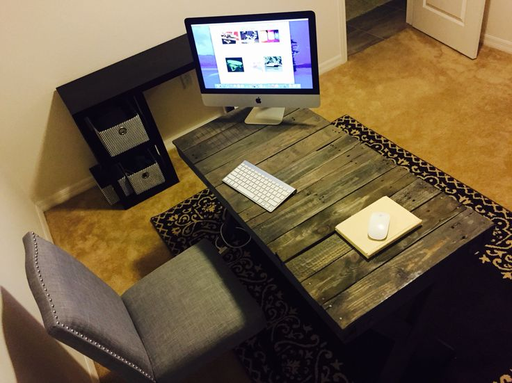 2nd view of our new desk we made.