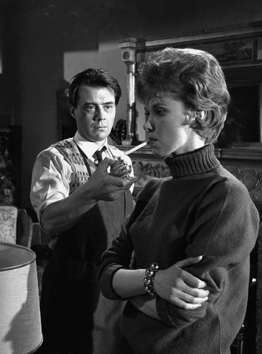 Dirk Bogarde and Wendy Craig in The Servant, 1963