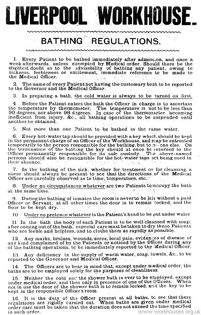 Re rule number 5 - I wonder in practice just how often the bath water was actually changed between inmates!