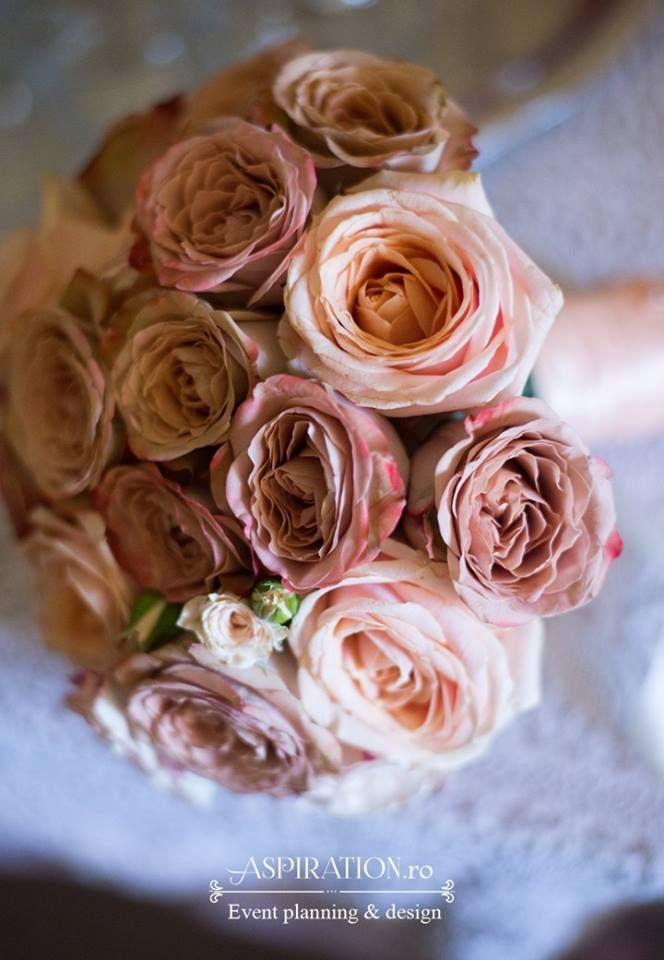 Buchet de mireasa culoare nude Nude wedding bouquet Aspiration Events