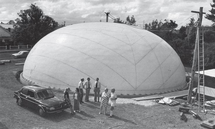 Inflatable Concrete Tent : The binishell concrete dome by dante bini it can be built