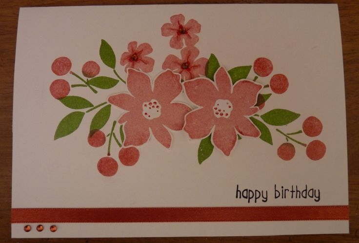 Best Blossoms Inked Collage Card by natja - Cards and Paper Crafts at Splitcoaststampers