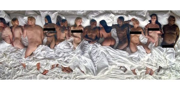 NSFW: Kanye West Drops New MV With 11 Naked Celebs Including Taylor Swift - DesignTAXI.com