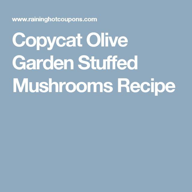Copycat Olive Garden Stuffed Mushrooms Recipe