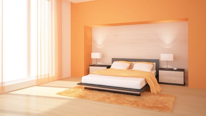 Paredes naranjas dormitorios buscar con google for Decoracion hogar naranja