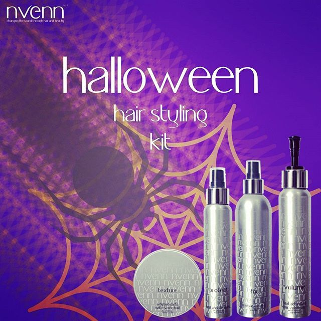 REST IN PEACE to MEDIOCHRE hairwith nvenn's HALLOWEEN STYLING KIT. from scary franken-bride waves to vampy blowouts, this kit has everything you need to create the perfect style to last all halloween day and night! sink your fangs into savings! https://goo.gl/2UDFYJ to save 25% #nvenn #halloween #style #kit #halloweenhair #halloweenstylekit #yeghair #yychair #bbloggers #salonpro #fallhair #