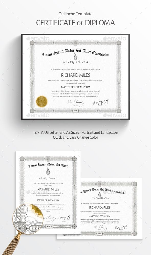 Fully Editable And Layered Vector Template Of Certificate Or