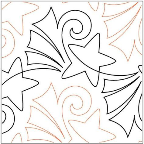 Fireworks Pantograph Pattern By Patricia Ritter And