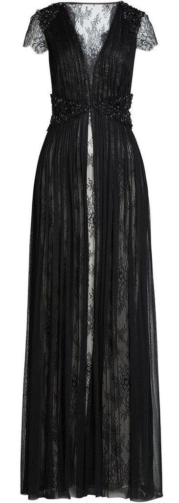 beautiful black lace overcoat <3