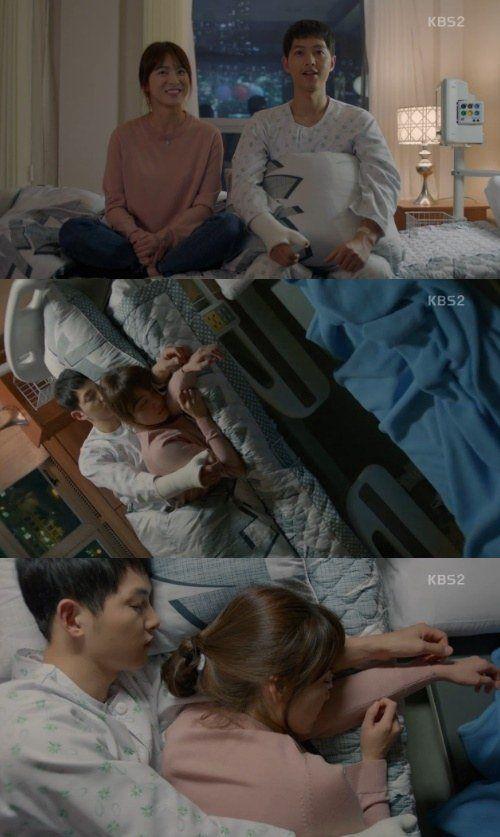 [Spoiler] 'Descendants of the Sun' Song Joong-ki, Song Hye-kyo fall asleep on the same bed