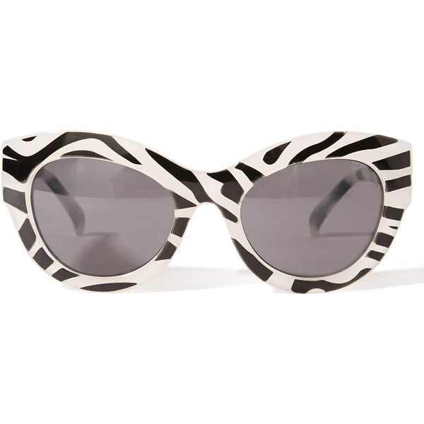 Cheap Monday Zebra Vicious Sunglasses ($40) ❤ liked on Polyvore featuring accessories, eyewear, sunglasses, cheap monday glasses, mirror lens sunglasses, zebra glasses, nose pads glasses and cheap monday sunglasses