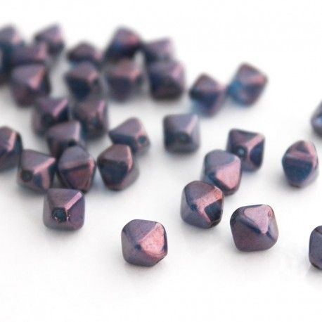 Czech glass druk beads are round pressed glass beads. They are available in a variety of colours and finishes.