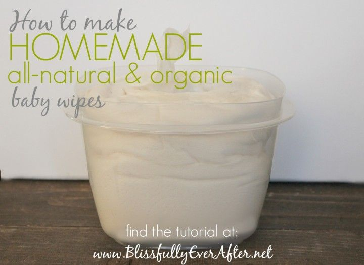 How to Make Homemade All-Natural & Organic Baby Wipes