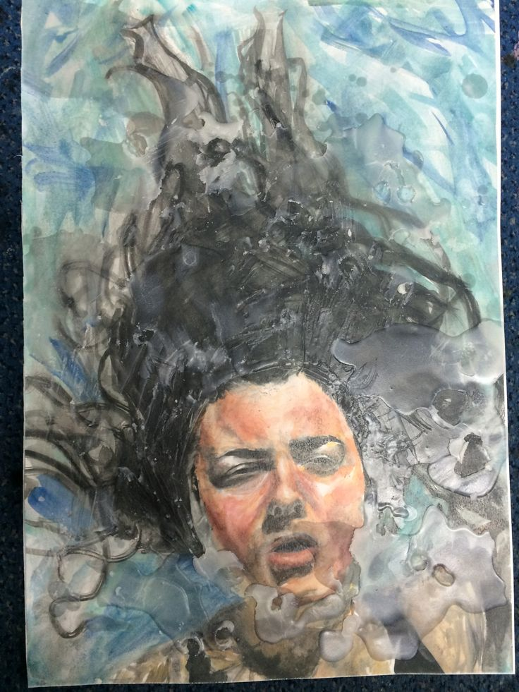 A level art inspired by Jenny Saville, Alyssa Monks. Oil paint, wax, A3 by Ella Jones, student, Hereford Sixth Form