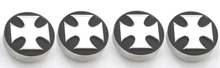 All Sales Interior Dash Knobs (set of 4) AC+4wd knob- Iron Cross Black