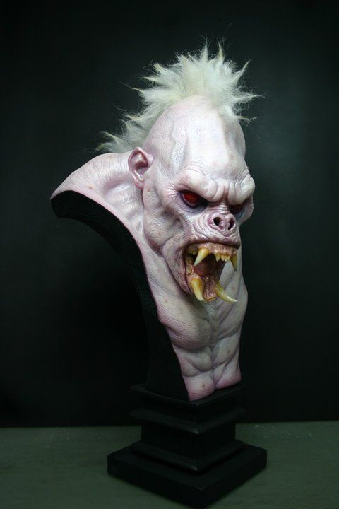 "This is my take on the ""White Apes of Mars"" translucent resin cast bust."