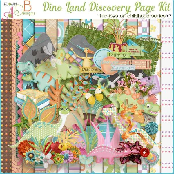 Collections :: J :: Joys of Childhood by ADB Designs :: Dino Land Discovery Page Kit