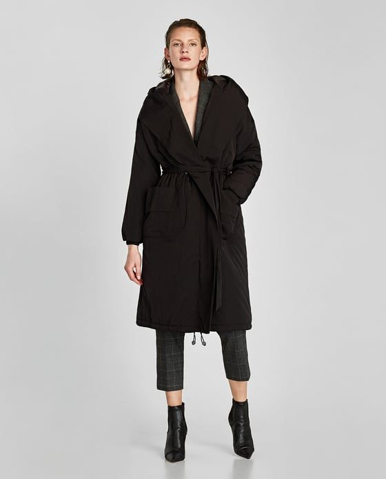 Image 1 of PUFFER COAT WITH HOOD from Zara