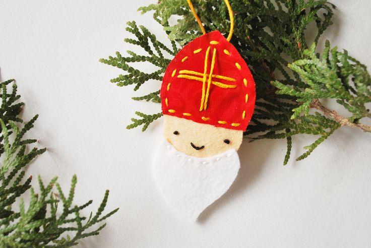 Saint Nicholas Felt Ornament
