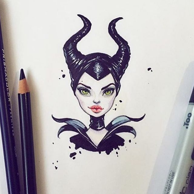 Little Maleficent by @lera_kiryakova ✨ #worldofartists