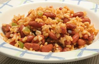 Cajun Red Beans and Rice ½ tablespoon extra-virgin olive oil ½ cup chopped green pepper ½ cup chopped red onion ½ cup sliced celery ¼ cup wa...