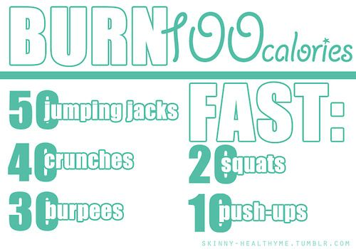 burn 100 calories fast | Fitness and Nutrition | Pinterest ...