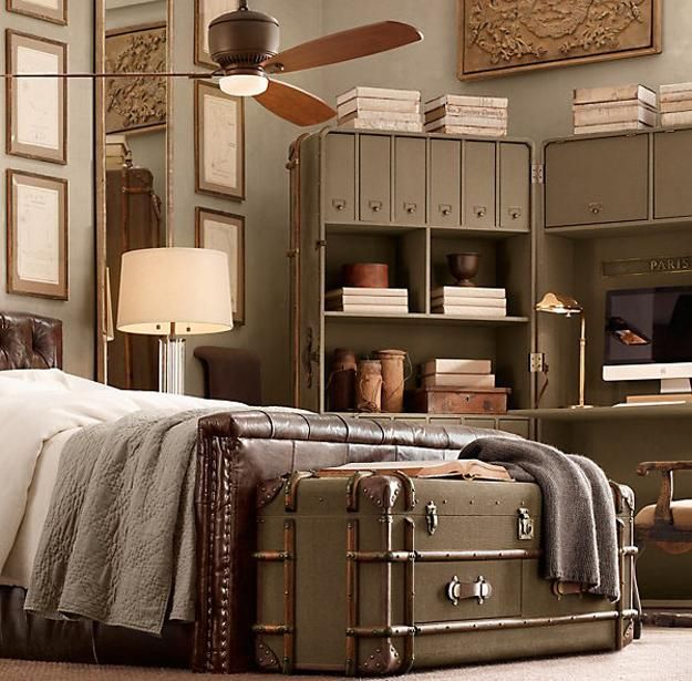 33 modern interior decorating ideas bringing vintage style with chests and trunks - Vintage Inspired Bedroom Furniture