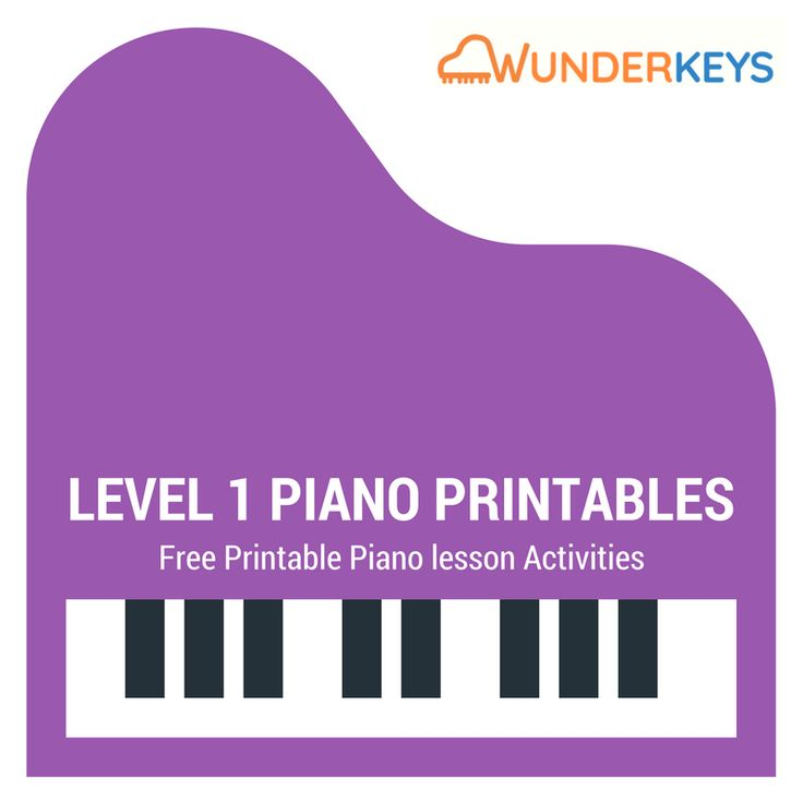 Free printables for level 1 piano students
