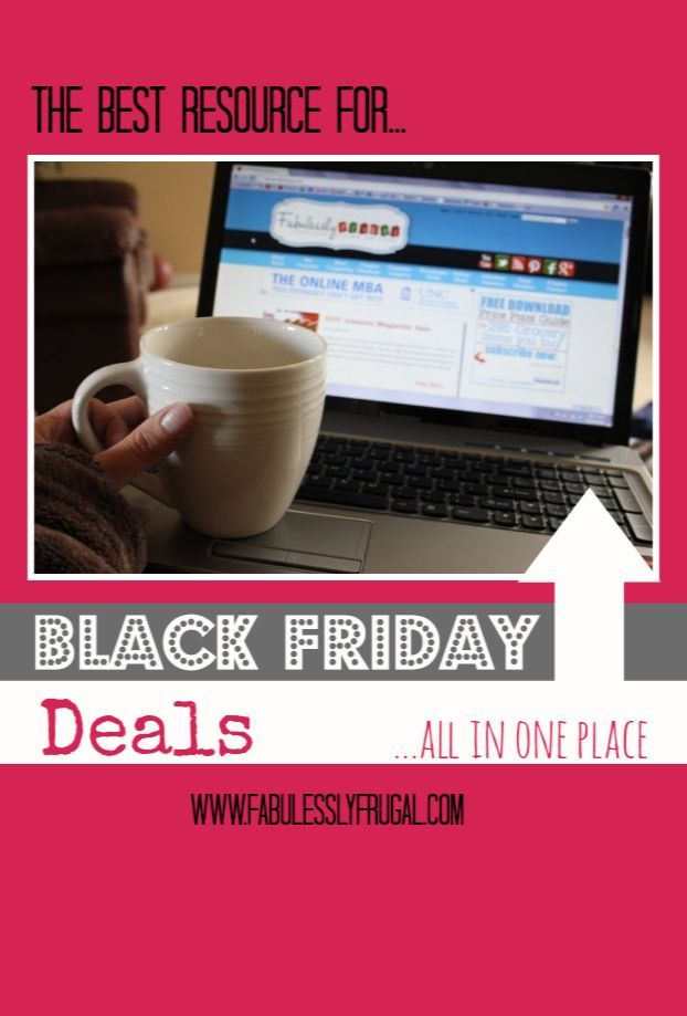 Fantastic resource for finding the best Black Friday deals.  Coming back in November to check this site out! #blackfriday www.FabulesslyFrugal.com