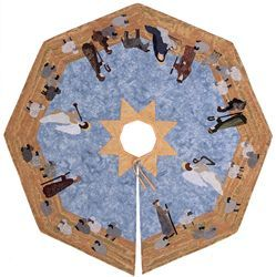 Tree Skirt from Adoration Quilts  Appliqué Nativity Projects