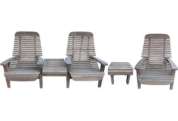 1960s Outdoor Seating, Set of 3 on OneKingsLane.com